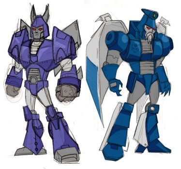 Cyclonus and Scourge by memorypalace