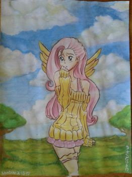 Fluttershy Watercolor by Usatou