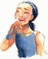 laughing for once by FastPuck