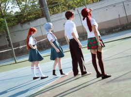 Evangelion Cosplay - Eva pilots chosen children by SailorMappy