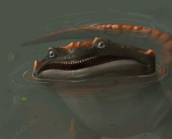 Monster Salamander by lizcakes