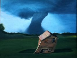 Tornado Oil Painting UNFINISHED by LilDezzi