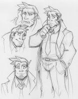 Dick Gumshoe Sketches by zillabean