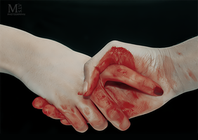 Bloody handshake by MISS-LV