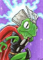 Thor the Mighty Frog by johnnyism