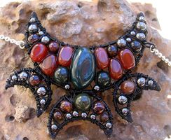 Bloodstone, Carnelian, Agate by MoonLitCreations