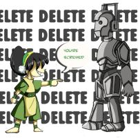 Toph vs. Cyberman by lindbloem