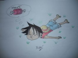 Luffy is hungry by Nami-v