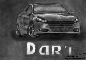 Dart Dodge 4 Photo Realistic Pencil sketch by diablocyrus