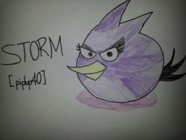 Angry Birds: Storm Bird by MeganLovesAngryBirds