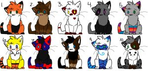 .:Kitty Point Adopts!:. by LarabelleFurrypaws