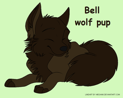 Bell the wolf pup by Taryndedoo