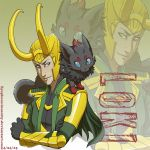 Poke Loki throw pillow by Zyephens-Insanity