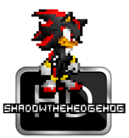 PIXEL ART: Shadow the Hedgehog HD Sprite by xXBrawlStudiosXx
