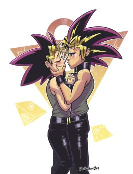 COMM: Yugi and Atem by SupaCrikeyDave