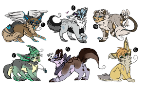cat wolf adoptables auction by RedAut-Adopts