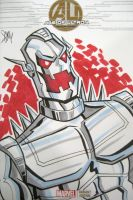 Ultron Sketch Cover by calslayton