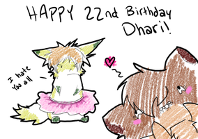 Happy birthday Dhari! by Mari-Kyomo