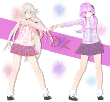 TDA Colorful duo Yukari and IA + DL by Darkivralii666