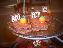 Tombstone Brownies by adorkable-cuteness