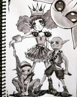 Inktober 3: Goblin Princess and Minions  by MauroStrange