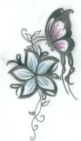 butterfly Tattoo by NyaMel