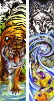 Tiger Wolfish Bookmarks by arrowroot
