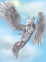 High above the ground by Sally-Ce