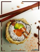 Watch this sushi for me by BombOPAUL