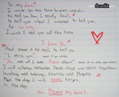 To My Love... by dcoolit