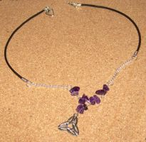 Triquetra Amethyst necklace by hekattee