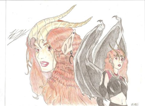 Demoness Request FINISHED. by Queen-of-Daemons