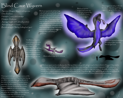 Blind Cave Wyvern (Species) by Uglypenguin