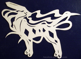 Papercutting: Suicune by Ancaleon