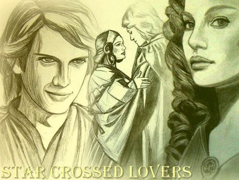Anakin and padme collage by acrosstars22
