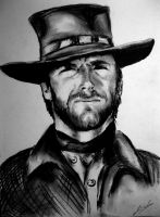 Clint Eastwood by MidnightRider88