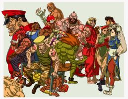 """Street Fighter II"" by AfuChan"
