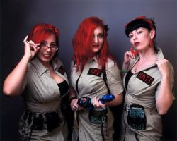 Go Cat Go gals as Ghostbusters by MinnieVicious