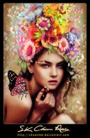 Butterfly woman by SK-DIGIART