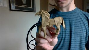 Origami Horse Alternate View by xhudaman