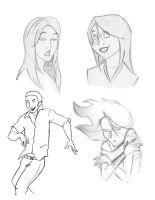 Portfolio . Characters 1 by Sorren-Chan