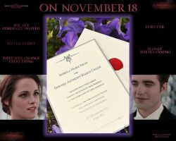 Twilight Saga Breaking Dawn Wedding Invitation by Maysa2010