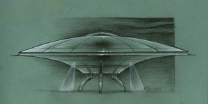 Flying Saucer design by MJBivouac
