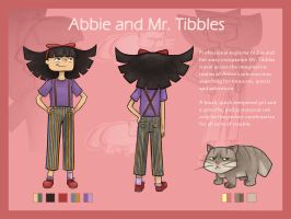 Abbie and Mr. Tibbles Design Sheet by Shauna-O-Connor