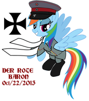 Rainbow Dash DER ROTE BARON by fORCEMATION