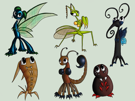 WTFIDK and other buggy friends by Dreamscape195