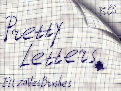 Some Pretty Letters by ElizavetBrushes