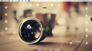 Lens_Desktop_Rainmeter by veeradesigns