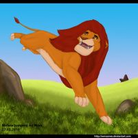 Mufasa jumping by Betelgeuse-Neva