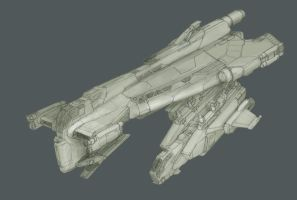 Jump Shuttle WIP 01 by MikeDoscher